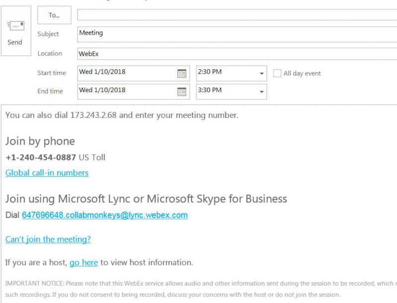 Join Cisco WebEx from Microsoft Lync CollabMonkeys